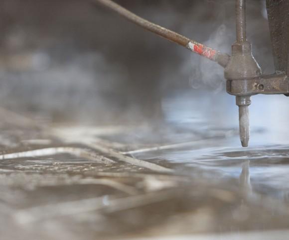 Düse beim 2d Wasserstrahlschneiden