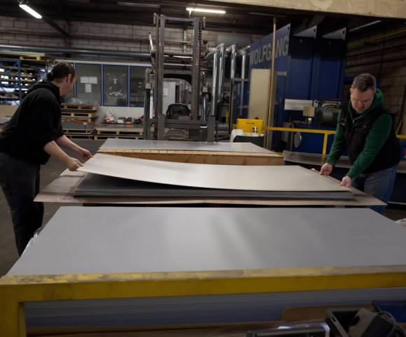 Verbundplatten mit Presstechnik