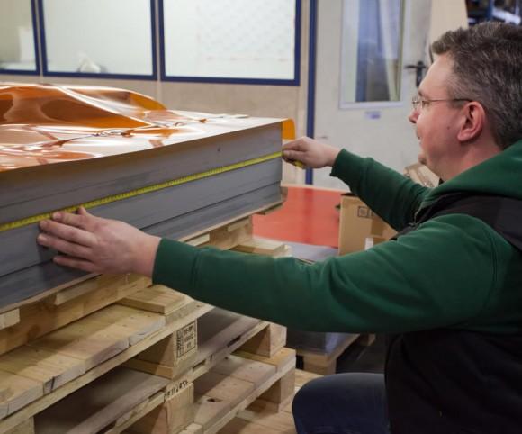 Verbundplatten mit Presstechnik - Versuchsreihe für neue Materialien