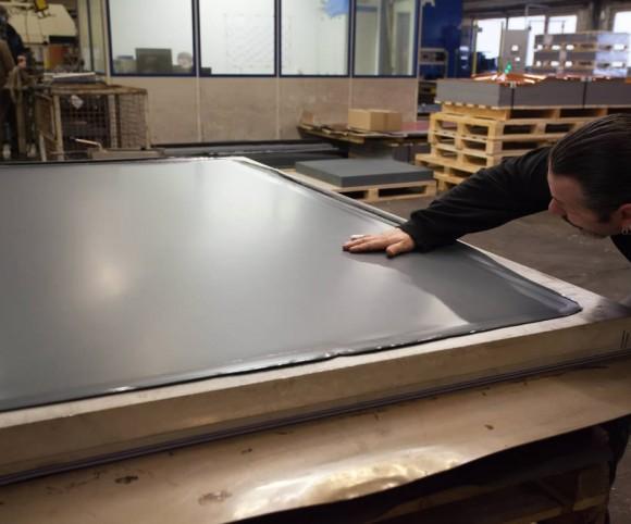 neue Verbundplatten mit Presstechnik