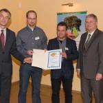 """Verleihung der Auszeichnung """"Ökoprofit 2010"""" durch NRW-Umweltminister Johannes Remmel"""